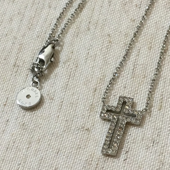 67f4a7a70fe6a Michael Kors Pave Cross Necklace